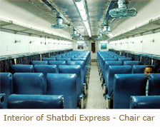 ac chair class ac chair car class is found on the shatabdi express